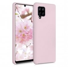 Silicone Case Soft Flexible Rubber Cover for Samsung Galaxy A42 5G pink