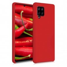 Silicone Case Soft Flexible Rubber Cover for Samsung Galaxy A42 5G red