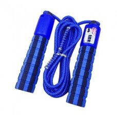 Skipping rope with a jump counter fitness crossfit blue (hutl)