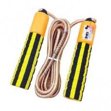 Skipping rope with a jump counter fitness crossfit yellow (hutl)