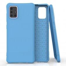 Soft Color Case flexible gel case for Samsung Galaxy A71 blue