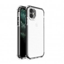 Spring Armor clear TPU gel rugged protective cover with colorful frame for iPhone 11 black