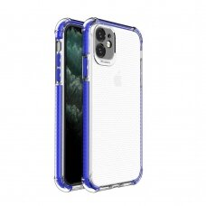 Spring Armor clear TPU gel rugged protective cover with colorful frame for iPhone 11 blue