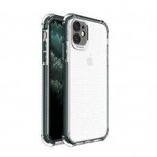 Spring Armor clear TPU gel rugged protective cover with colorful frame for iPhone 11 green