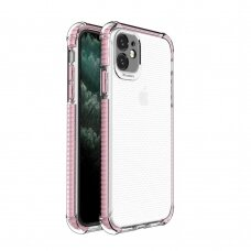 Spring Armor clear TPU gel rugged protective cover with colorful frame for iPhone 11 pink