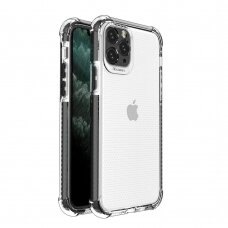 Spring Armor clear TPU gel rugged protective cover with colorful frame for iPhone 11 Pro black