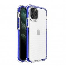 Spring Armor clear TPU gel rugged protective cover with colorful frame for iPhone 11 Pro blue