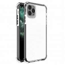 Spring Armor clear TPU gel rugged protective cover with colorful frame for iPhone 11 Pro Max black