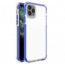 Spring Armor clear TPU gel rugged protective cover with colorful frame for iPhone 11 Pro Max blue