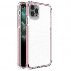 Spring Armor clear TPU gel rugged protective cover with colorful frame for iPhone 11 Pro Max pink