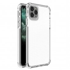Spring Armor clear TPU gel rugged protective cover with colorful frame for iPhone 11 Pro Max white