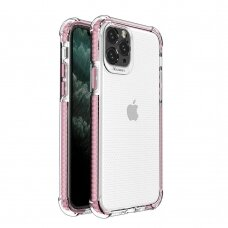 Spring Armor clear TPU gel rugged protective cover with colorful frame for iPhone 11 Pro pink