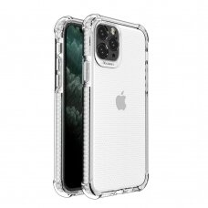 Spring Armor clear TPU gel rugged protective cover with colorful frame for iPhone 11 Pro white