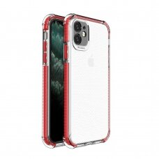 Spring Armor clear TPU gel rugged protective cover with colorful frame for iPhone 11 red