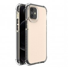 Spring Armor clear TPU gel rugged protective cover with colorful frame for iPhone 12 mini black