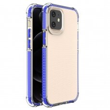 Spring Armor clear TPU gel rugged protective cover with colorful frame for iPhone 12 mini blue