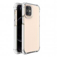 Spring Armor clear TPU gel rugged protective cover with colorful frame for iPhone 12 mini white