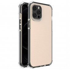 Spring Armor clear TPU gel rugged protective cover with colorful frame for iPhone 12 Pro Max black