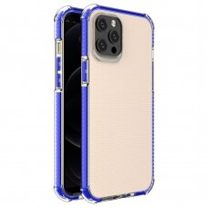 Spring Armor clear TPU gel rugged protective cover with colorful frame for iPhone 12 Pro Max blue