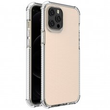 Spring Armor clear TPU gel rugged protective cover with colorful frame for iPhone 12 Pro Max white