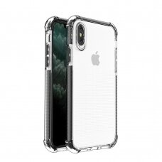 Spring Armor clear TPU gel rugged protective cover with colorful frame for iPhone SE 2020 / iPhone 8 / iPhone 7 black