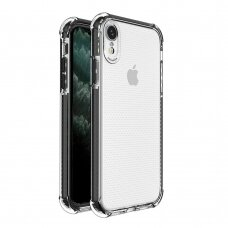 Spring Armor clear TPU gel rugged protective cover with colorful frame for iPhone XR black