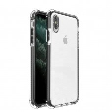 Spring Armor clear TPU gel rugged protective cover with colorful frame for iPhone XS Max black