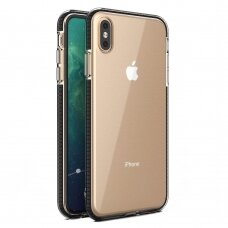 Spring Case clear TPU gel protective cover with colorful frame for iPhone XS Max black (IPXSMAX)