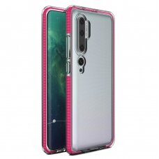 Spring Case clear TPU gel protective cover with colorful frame for Xiaomi Mi Note 10 / Mi Note 10 Pro / Mi CC9 Pro light pink (XMN10PR)
