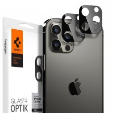Tempered glass Spigen Optik.Tr Camera Lens Iphone 12 Pro Max Black