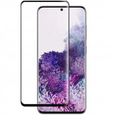 Tempered glass 3MK Hard Glass Max Finger Print Samsung S21 Plus black