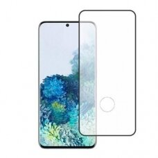 Tempered glass 5D Full Glue Samsung G986 S20 Plus/S11 curved black with hole