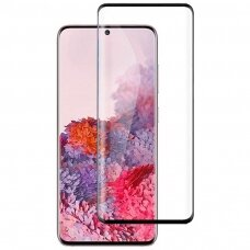 Tempered glass 5D Full Glue Samsung G986 S20 Plus/S11 curved black without hole