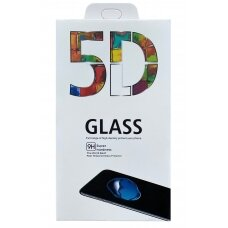 Tempered glass 5D Full Glue Samsung S21 Ultra curved black with hole