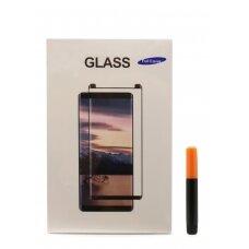 Tempered glass M1 5D UV Glue Samsung G965 S9 Plus curved transparent