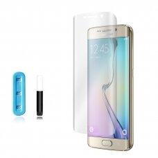 Tempered glass Nano Optics 5D UV Glue Samsung G925 S6 Edge curved transparent