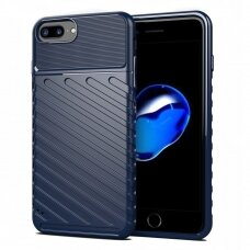 Thunder Case Flexible Tough Rugged Cover TPU Case for iPhone 8 Plus / iPhone 7 Plus blue (gcl74) (IP7PLUS)