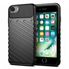Thunder Case Flexible Tough Rugged Cover TPU Case for Iphone SE 2020 / Iphone 8 / Iphone SE 2020 / Iphone 7 black (vaz09) (IPO78)