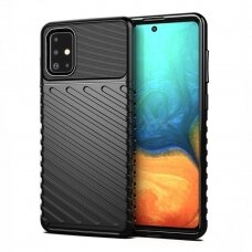 Thunder Case Flexible Tough Rugged Cover TPU Case for Samsung Galaxy A21S black
