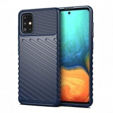 Thunder Case Flexible Tough Rugged Cover TPU Case for Samsung Galaxy A71 blue (qoe97) (SGA71)