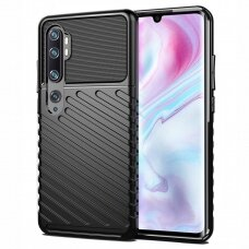 Thunder Case Flexible Tough Rugged Cover TPU Case for Samsung Galaxy Note 10 black (hij34) (SNT10)