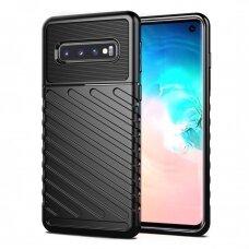 Thunder Case Flexible Tough Rugged Cover TPU Case for Samsung Galaxy S10 black  (SGS10)