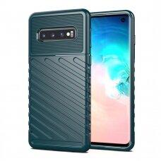 Thunder Case Flexible Tough Rugged Cover TPU Case for Samsung Galaxy S10 green  (SGS10)