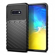 Thunder Case Flexible Tough Rugged Cover TPU Case for Samsung Galaxy S10e black  (SAS10E)