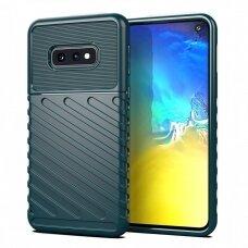 Thunder Case Flexible Tough Rugged Cover TPU Case for Samsung Galaxy S10e green  (SAS10E)
