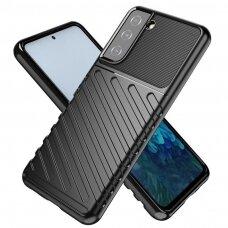 Thunder Case Flexible Tough Rugged Cover TPU Case for Samsung Galaxy S21 5G black