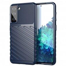 Thunder Case Flexible Tough Rugged Cover TPU Case for Samsung Galaxy S21 5G blue