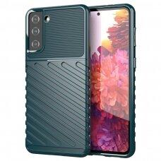 Thunder Case Flexible Tough Rugged Cover TPU Case for Samsung Galaxy S21 5G green