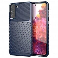 Thunder Case Flexible Tough Rugged Cover TPU Case for Samsung Galaxy S21+ 5G (S21 Plus 5G) blue