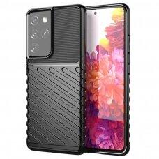 Thunder Case Flexible Tough Rugged Cover TPU Case for Samsung Galaxy S21 Ultra 5G black